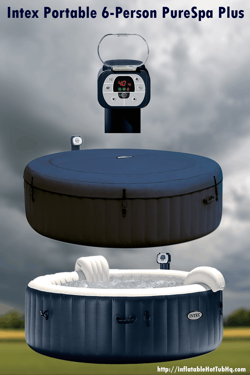 6 person inflatable hot tub this one is both huge and awesome. Black Bedroom Furniture Sets. Home Design Ideas